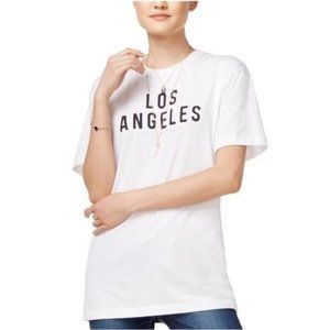 Kid-Dangerous White Los Angeles Graphic Tee